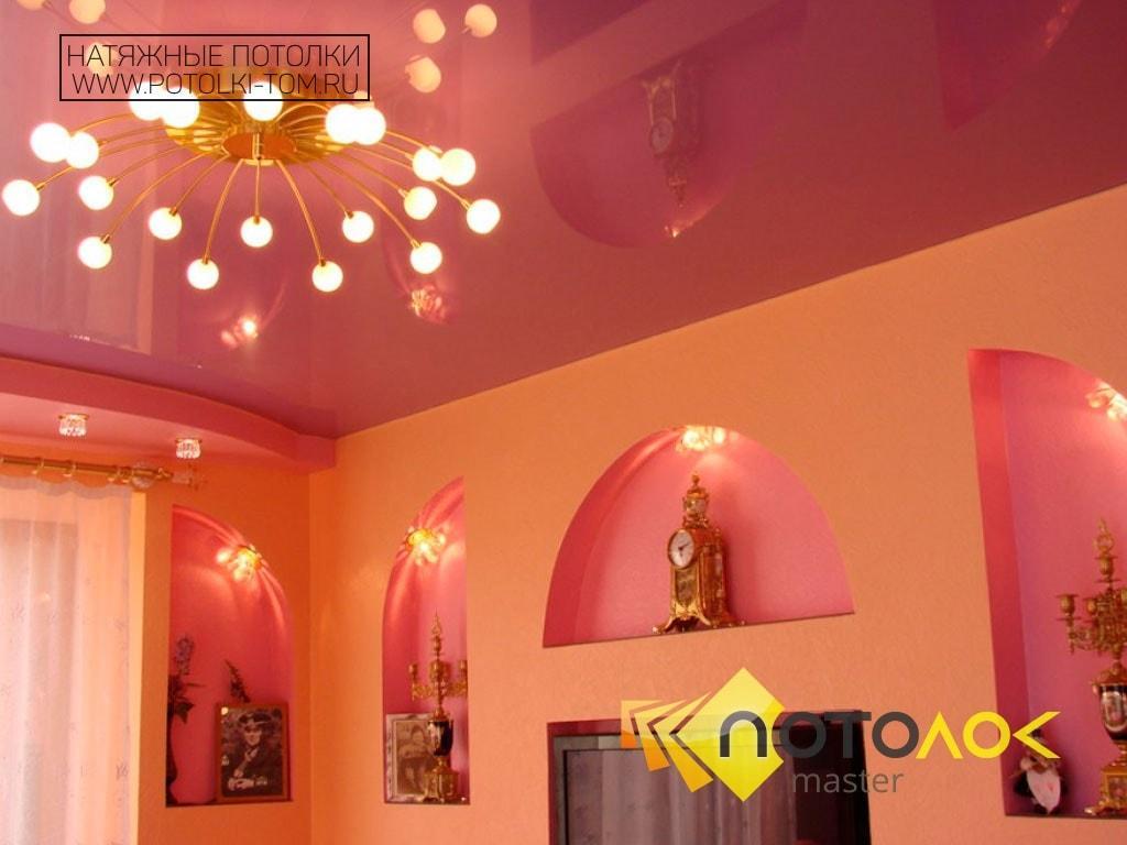 Цветные натяжные потолки фото