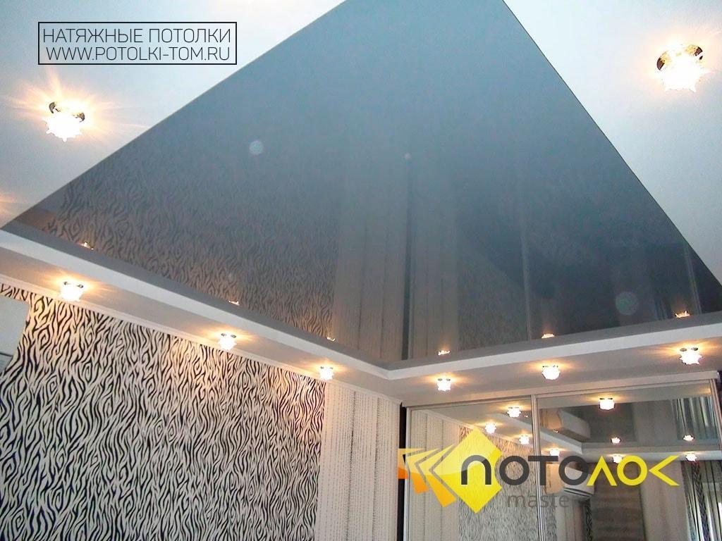 Фото черных натяжных потолков