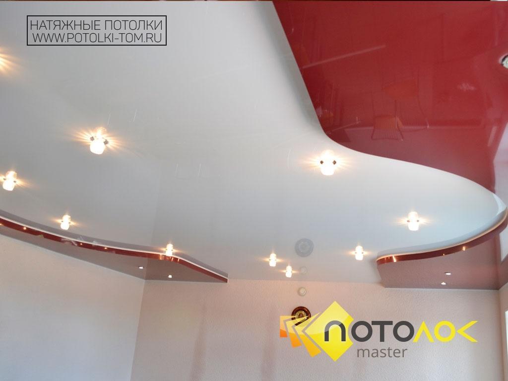 Натяжные потолки в зале фото