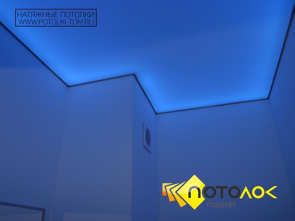 Натяжные потолки с подсветкой фото