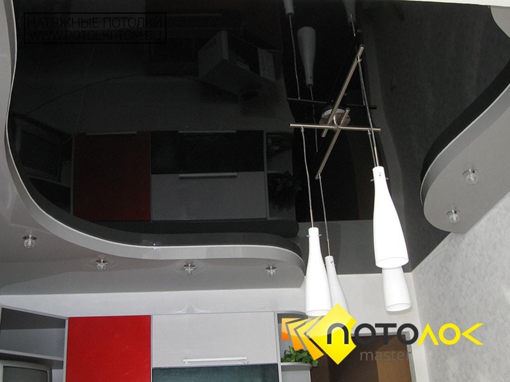 Черные натяжные потолки фото