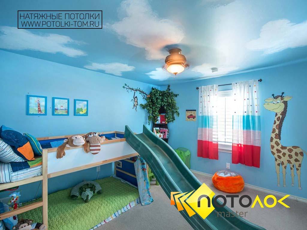 Натяжные потолки в детской фото