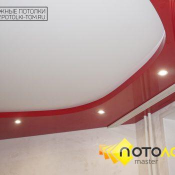 Двухуровневый потолок в комнате фото