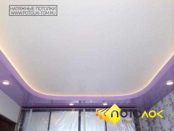 Натяжной потолок в спальню фото