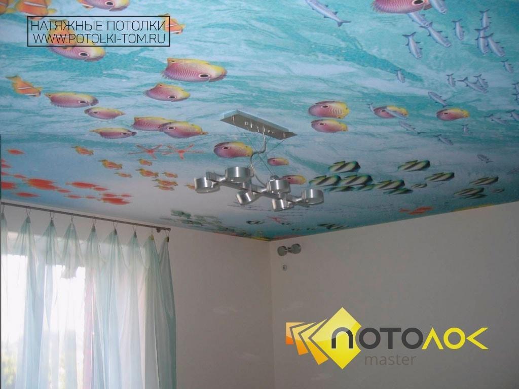 Натяжные потолки в детскую фото