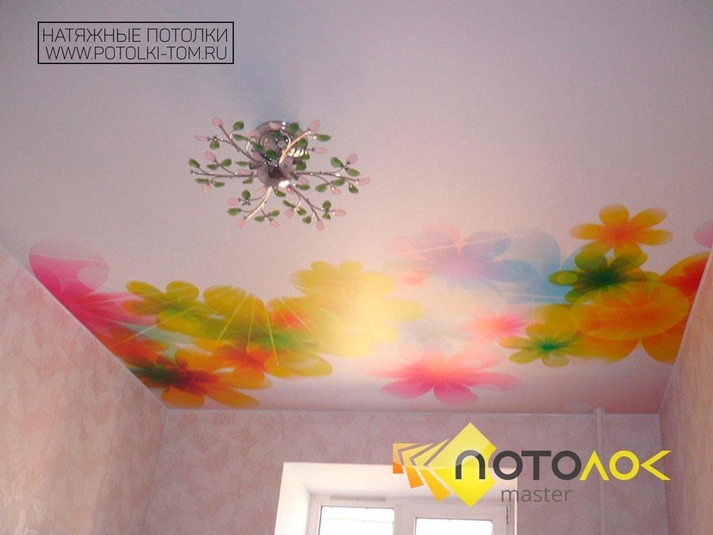 Натяжные потолки в детскую фото наших работ, компания производитель Потолок Мастер.
