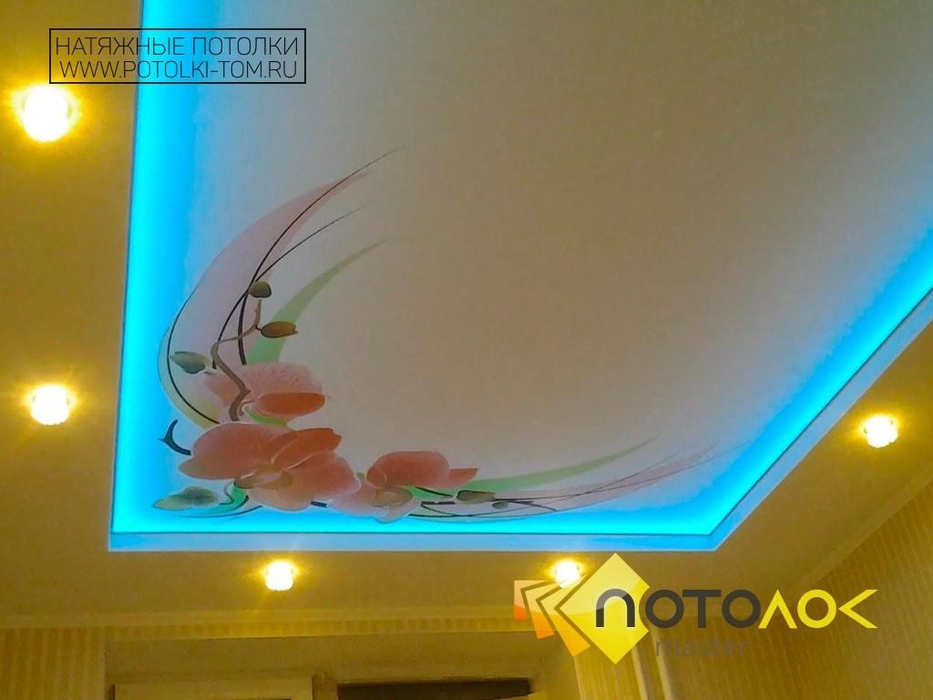 Фотопечать на потолке фото