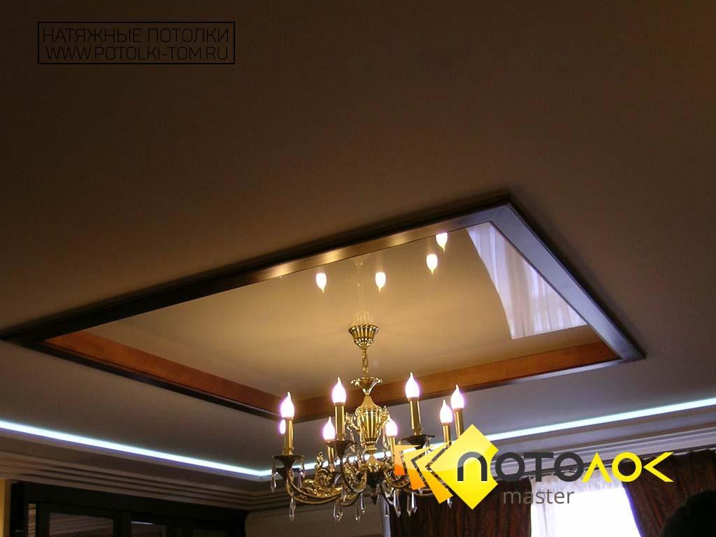 Натяжные потолки в коттедже фото