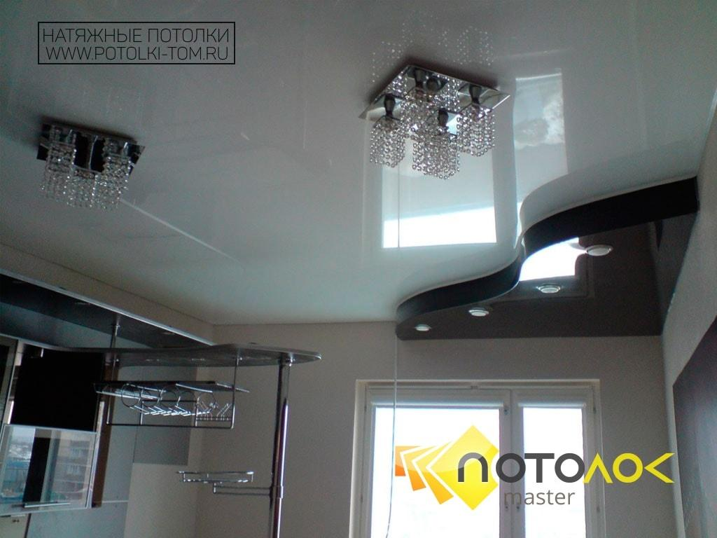 Натяжные потолки для кухни фото