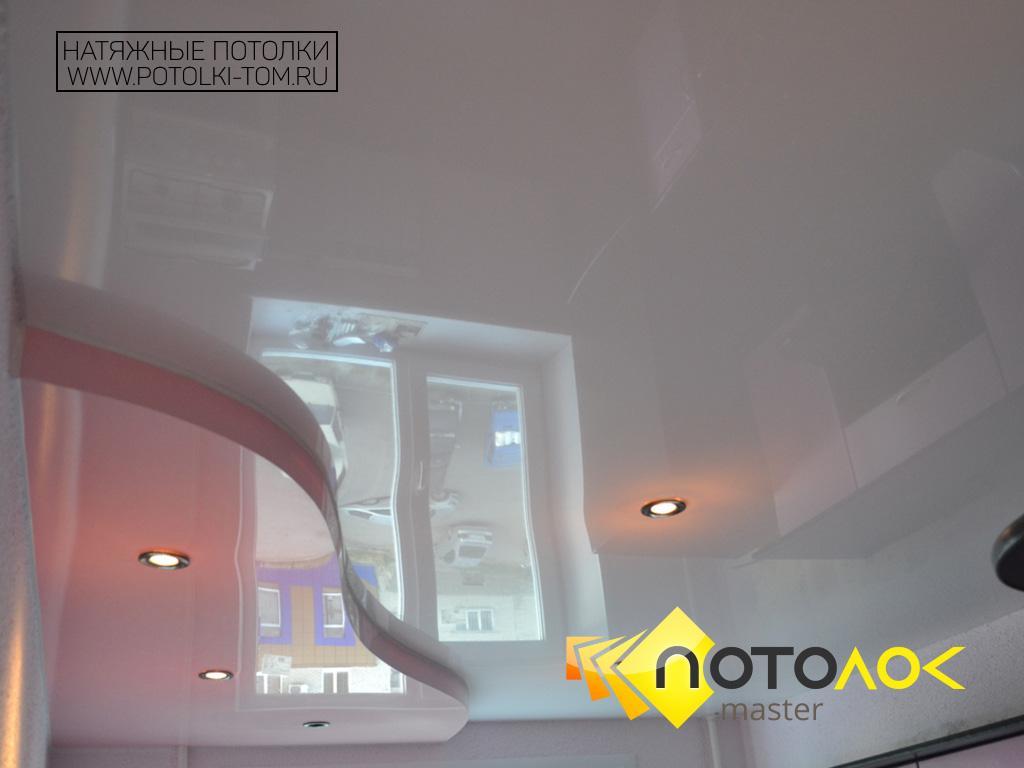 Многоуровневые натяжные потолки фото