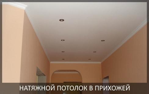 Натяжные потолки в прихожей фото цены в Томске и Северске от компании - Потолок Мастер. Заказать натяжные потолки в прихожую, коридор по выгодной цене.