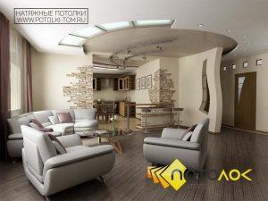 Натяжные потолки в коттедже фото цены в Томске и Северске от компании - Потолок Мастер. Заказать натяжные потолки в деревянный дом по выгодной цене.
