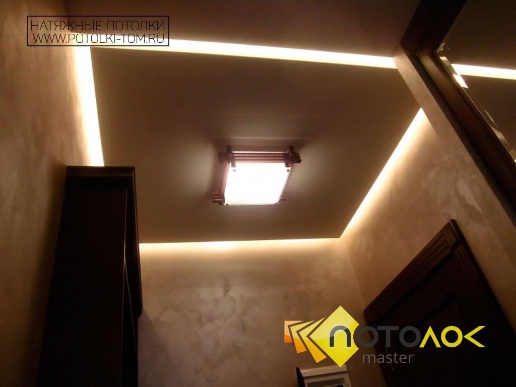 Парящий потолок натяжной фото