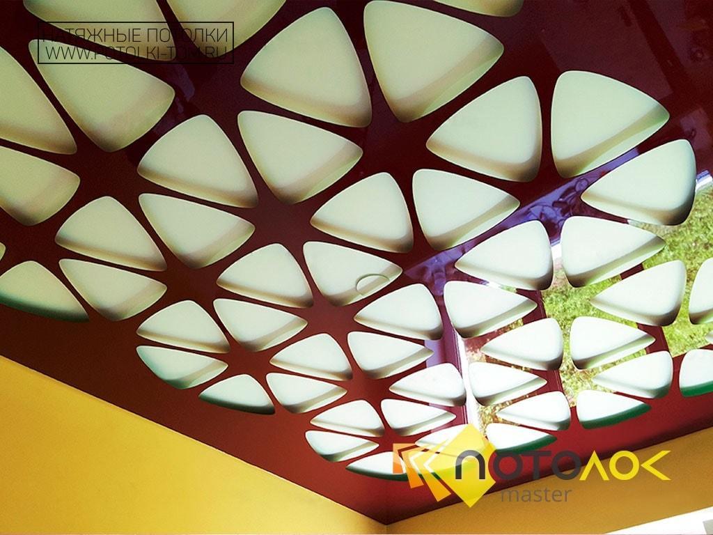 Натяжные потолки с перфорацией фото