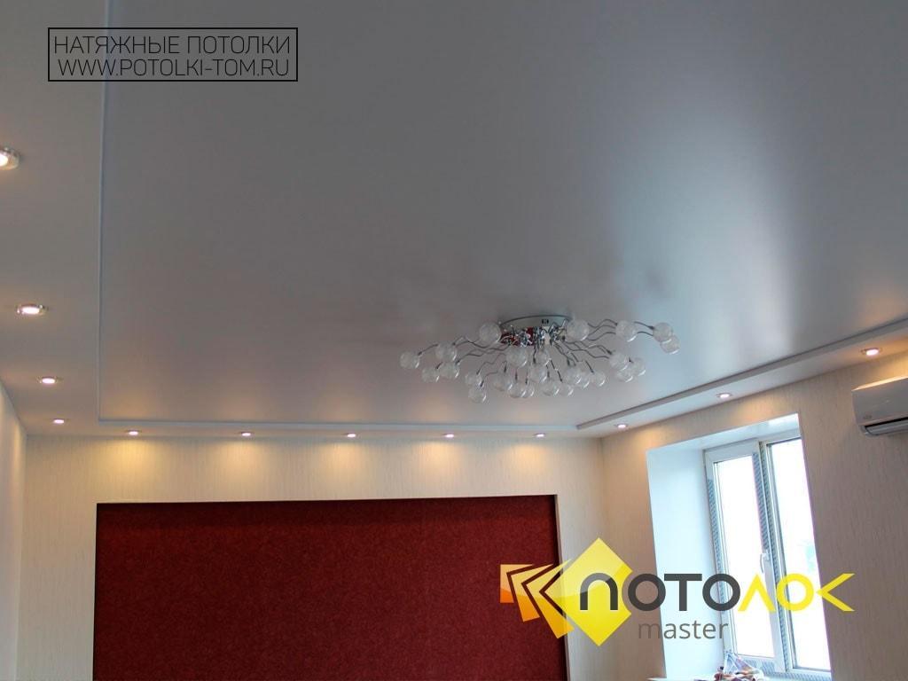 Сатиновый натяжной потолок от производителя в Томске и Северске.