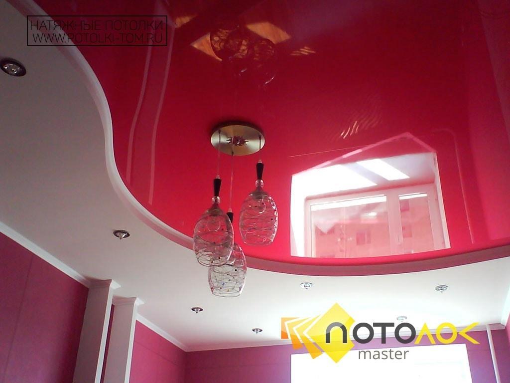 Натяжной потолок в спальне от производителя в Томске и Северске.