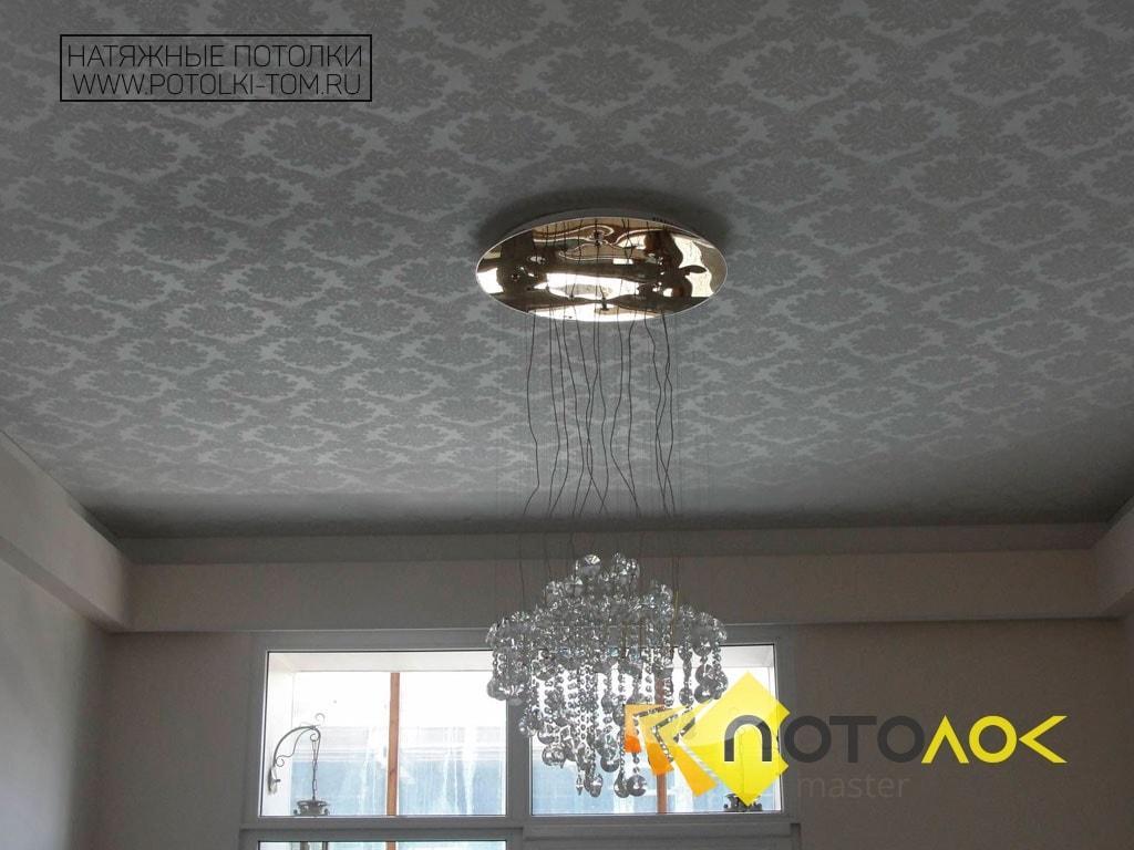 Тканевый натяжной потолок фото