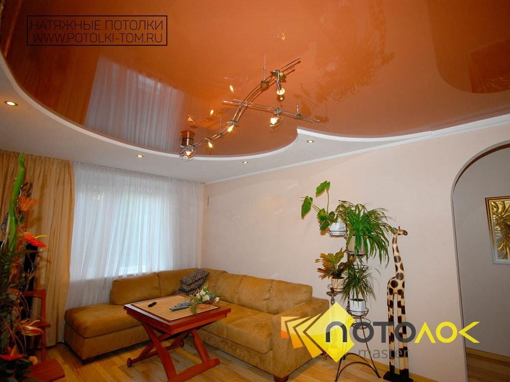 Натяжные потолки фото для гостиной в Томске и Северске. Рассчитать стоимость натяжного потолка.