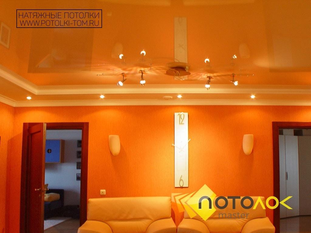 Натяжные потолки в гостиную фото наших работ, компания производитель Потолок Мастер.