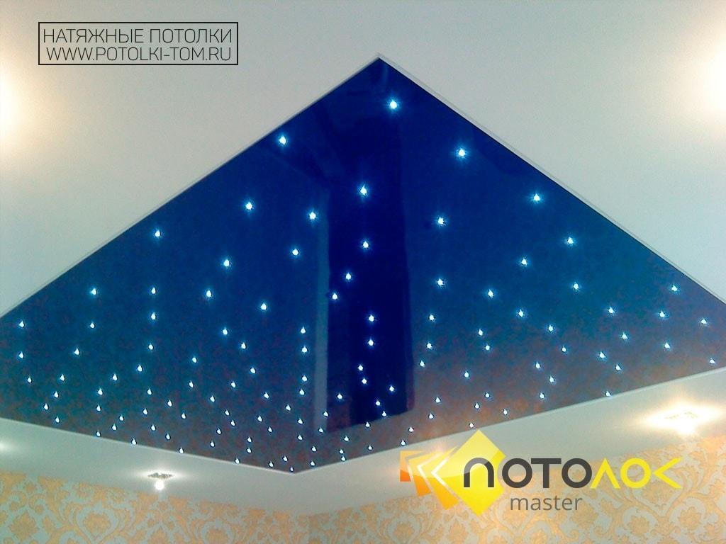 Звездное небо натяжные потолки фото